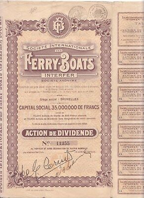 1929 French bond for Societe Internationale des Ferry-Boats