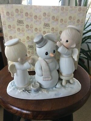 """Precious Moments """"halo , And Merry Christmas""""  -  #12351  - In Box"""