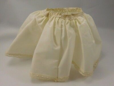 "VNTG 1950s Madame Alexander White/ Cream Slip, fits 14"" Doll"