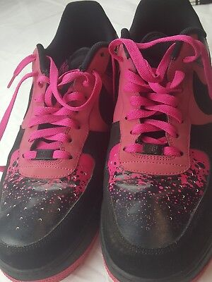 promo code faf9f 8f86c Nike Men s Air Force 1 sz 13 Rare color Pink   Black 488298 Good used  condition