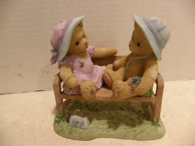 Cherished Teddies Sandy & Roger Happy Is Our Time Together Mib Box Poor Cond #1