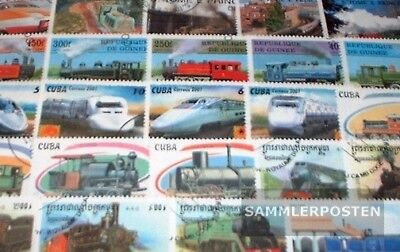 Motives 100 different Railway stamps