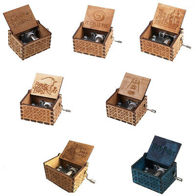Tiny Harry Potter Wooden Hand Engraved Music Box Fun Interesting Toys Kids Gift-