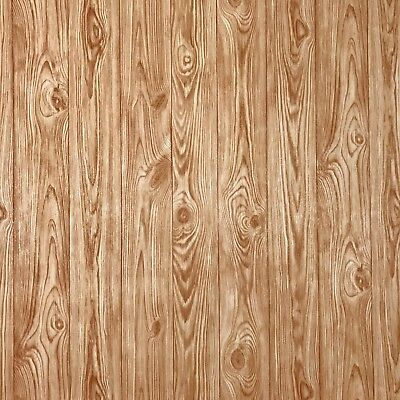 Orange brown gold wood planks boards Wallpaper textured Non-Woven wall coverings