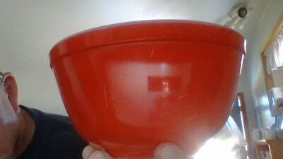 vintage pyrex red nesting bowl no. 402 excellent shape