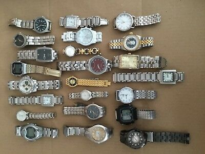 Vintage to Now Lot of Metal Men's/Womens Watches 23pcs Working/Nonworking PARTS
