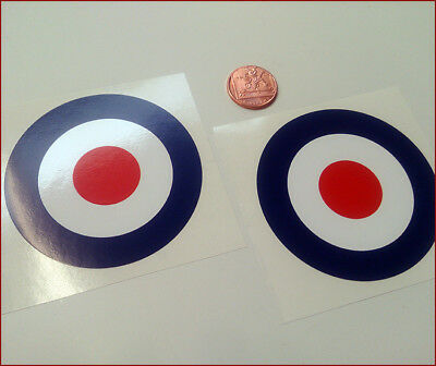 RAF ROUNDELS x2 Small 40mm Sticker Decals Classic Retro Mods Scooter Car Rally