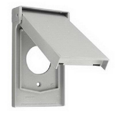 NEW Leviton 4980-GY 1-Gang Weather-Resistant Device Mount Cover Gray (t75)