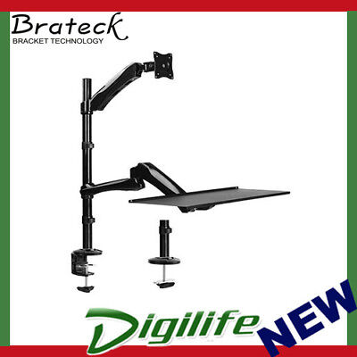 "Brateck Single Monitor Sit-Stand Workstation+Extension Arm for 13""-27"" Displays"