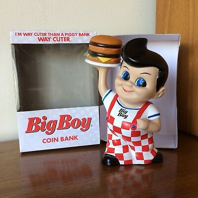 Bobs, Frisch's or Shoneys Big Boy Coin Bank with Hamburger & Box 2013 Ad Figure