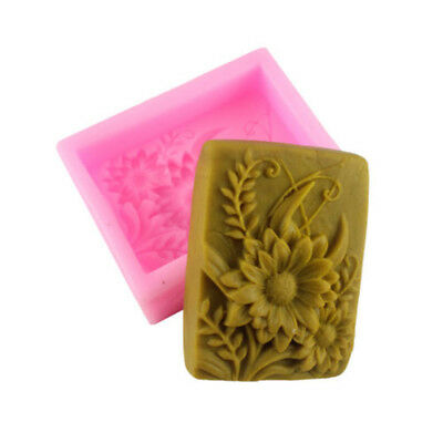 Silicone Sunflower Mould Ice Candle Candy Chocolate Soap Molds For Craft Lover