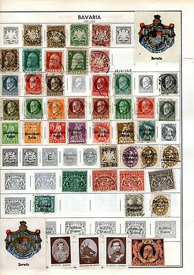 Mixed European Collection Of Bavaria And Bulgaria Hinged On Pages