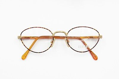 Versus by Gianni Versace mod. F40 38L round oval eyeglasses frame, brown dappled