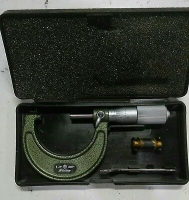 Mitutoyo 103-136 Outside Micrometer w/Friction Thimble 1-2""