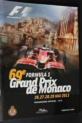 Program 2011 Monaco Grand Prix Formula 1 with 10 signatures (NA)
