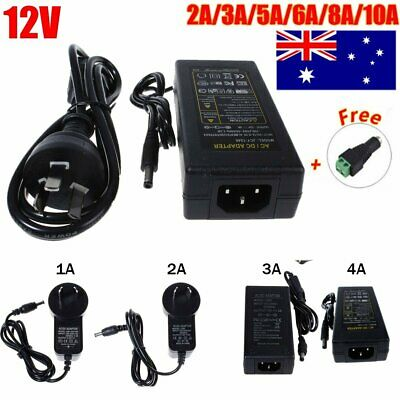AU STOCK Power Supply Adapter DC 12V 2A 3A 5A 6A 10A  Charger For LED Strip