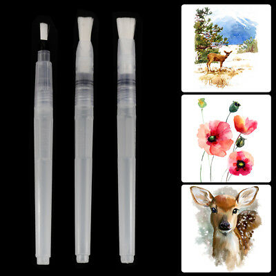 3pcs Water Brush Pen Set Nylon Brush for Watercolor Calligraphy Drawing AC1140
