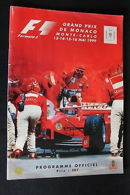 Program 1999 Monaco Grand Prix Formula 1 with 14 signatures (NA)