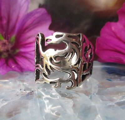 Ring Dragon Mythical Creatures Mythology Sterling Silver 925