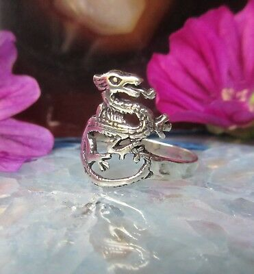 Ring Dragon Lizard Mythical Creatures Mythology Sterling Silver 925