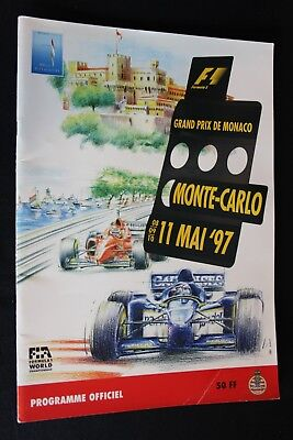Program 1997 Monaco Grand Prix Formula 1 with 19 signatures (NA)