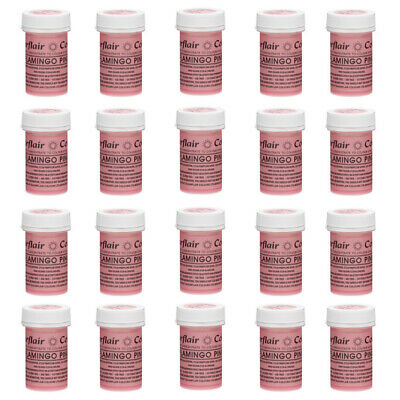 20 x Sugarflair 25g Flamingo Pink Spectral Paste Edible Food Colour Cake Icing