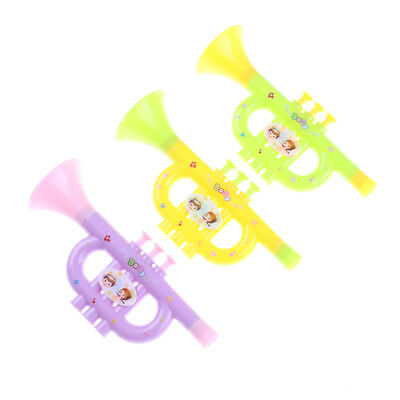 Baby Colorful Plastic Trumpet Hooter TOY Kids Musical Instrument EducationToy Jn