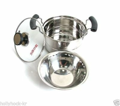 KITCHEN ART Egg Steamer Pot with Seperate Steam Bowl 160mm Stainless Steel