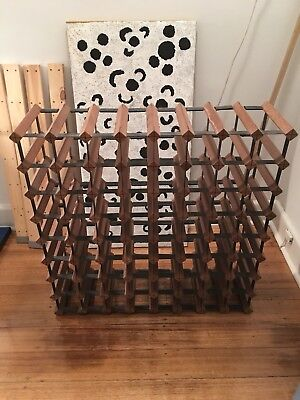 Bordex 72 Bottle Timber & Steel Wine Rack exc cond, Melbourne/Northcote PickUp.