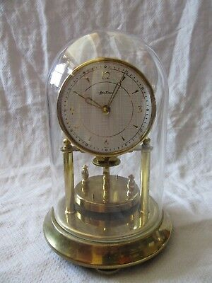 Lot05 - Vintage BENTIMA Ornate MANTLE CLOCK with GLASS DOME