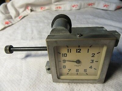 Lot24 Vintage SMITHS Square Wind Up CAR CLOCK With Backing Light UC 500