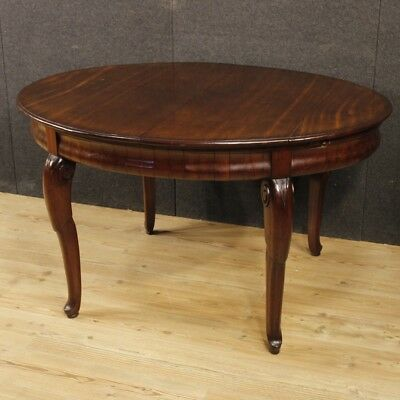 Dining room table extendable French furniture mahogany wood antique style 900