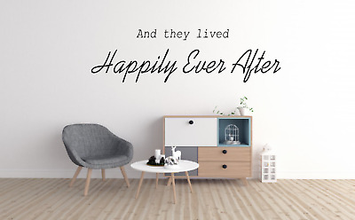 Wall Quote Decal Sticker Vinyl Art And They Lived Happily Ever After Love L14
