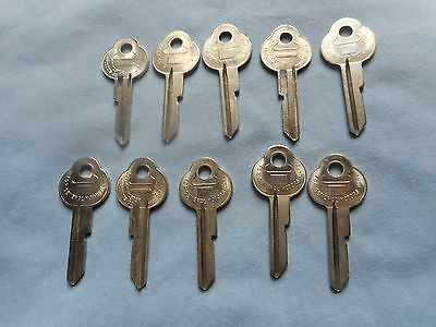 NOS GM Key Blanks (10) for ALL 60'S 50'S Buick Chevy Olds Pontiac DETROIT MASTER