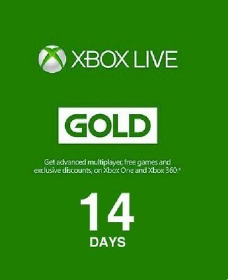 Xbox Live Gold Trial Code XBOX LIVE 14 Days GLOBAL, direkt per email
