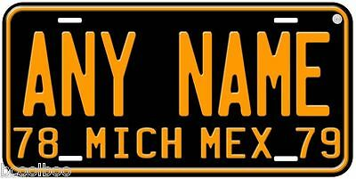 Michoacan 1978-79 Mexico Any Name Novelty Car License Plate