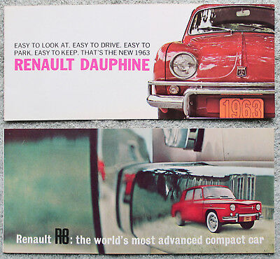 2 Renault R8 & Dauphine 1963 Small Sales Brochures, Pamphlets