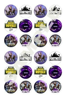 FORTNITE EDIBLE FAIRY Cup Cake Decoration Toppers Rice ...
