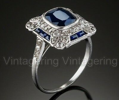3 Ct Diamond Vintage Antique Engagement Art Nouveau Deco Jewelry Ring C. 1905's