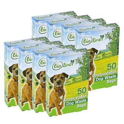 400 x BioLiner Dog Waste Bags – Compostable Dog Waste/Poo Bags – EN 13432