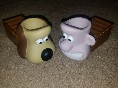 Wallace And Gromit  Egg Cup and Solider Holders by KINGSMILL