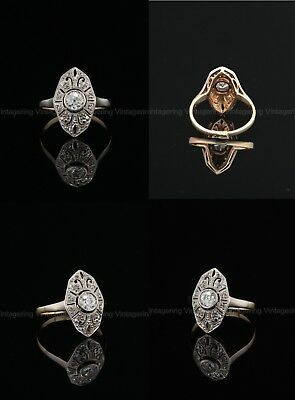 1.2 Ct Diamond Vintage Edwardian Circa 1920's Antique Engagement Art Deco Ring
