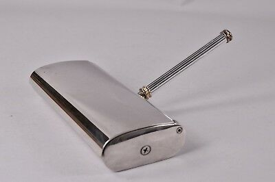 Vintage Silver Plated Table Crumb Rotating Brush Roller Sweeper
