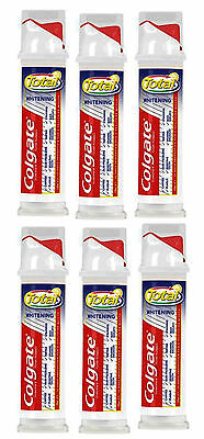6 x 100ml Colgate Total Advanced Whitening Toothpaste Pump Action Tubes