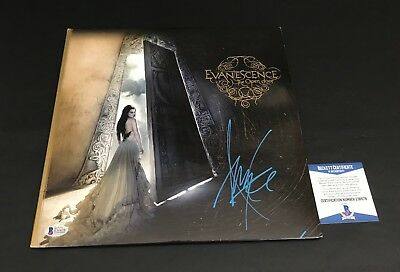 Evanescence Amy Lee Signed The Open Door Vinyl Record Authentic Autograph Bas
