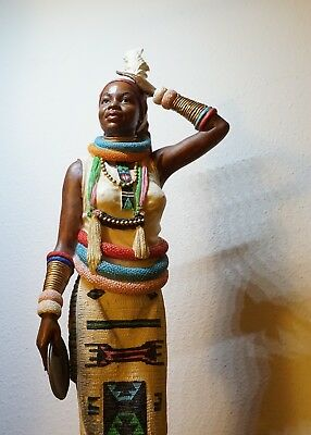 Beautiful & Large Sculpture African of Woman 13 in. tall Great Shape