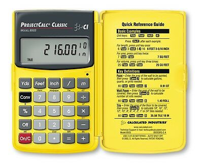 Calculated Industries 8503 ProjectCalc Home Improvement Calculator for DIY
