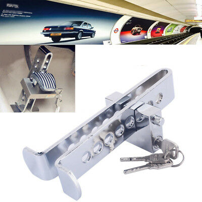 8 Hole Stainless Steel Clutch Pedal Lock Car Brake Security Device With 3 Keys