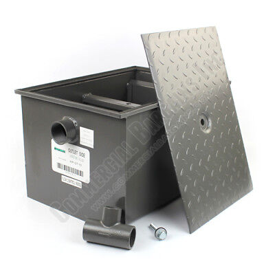 Commercial Grease Trap 30 Pound 15 GPM Wentworth WP-GT-15
