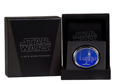 2017 Niue Star Wars Ships T-65 X-Wing Fighter 1 oz Proof Silver $2 OGP SKU48466